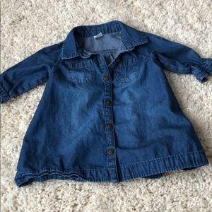 Baby girl denim shirt dress 3-6m